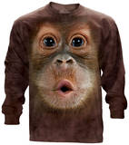 Long Sleeve: Big Face Baby Orangutan T-Shirt