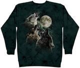 Crewneck Sweatshirt: Three Wolf Moon T-Shirt