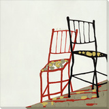 Two Chairs-Red Art