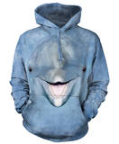 Hoodie: Dolphin Face Pullover Hoodie