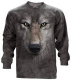 Long Sleeve: Wolf Face Langärmelig