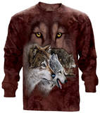 Long Sleeve: Find 9 Wolves Langärmelig