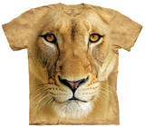 Youth: Big Face Lioness Smithsonian Collection T-shirts