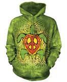 Hoodie: Rasta Peace Turtle Pullover Hoodie