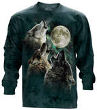 Long Sleeve: Three Wolf Moon T-Shirt