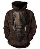 Hoodie: Elephant Face Pullover Hoodie