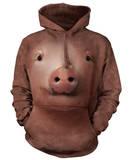 Hoodie: Pig Face Pullover Hoodie