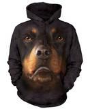 Hoodie: Rottweiler Face Pullover Hoodie