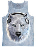 Tank Top: White Wolf DJ Tank Top