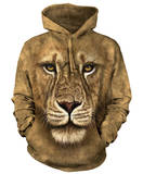 Hoodie: Lion Warrior Hettegenser