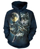 Hoodie: Moon Wolves Collage Huvtröja