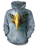 Hoodie: Eagle Face Pullover Hoodie