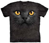 Youth: Big Face Black Cat T-Shirt