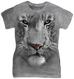 Women's: White Tiger Face Shirts