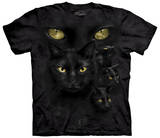 Black Cat Moon Shirts