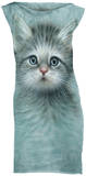 Mini Dress: Blue Eyed Kitten Mini Dress