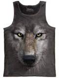 Tank Top: Wolf Face Tank Top