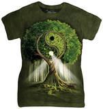 Juniors: Yin Yang Tree T-skjorter