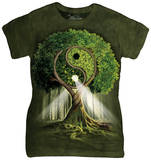 Juniors: Yin Yang Tree T-shirts