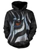 Hoodie: Zebra Eye Pullover Hoodie