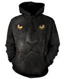 Hoodie: Black Panther Face Pullover Hoodie