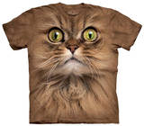 Youth: Big Face Brown Cat T-Shirt