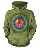 Hoodie: Peace Tie Dye Pullover Hoodie