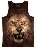 Tank Top: Big Face Roaring Lion Tank Top
