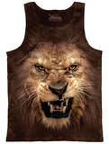 Tank Top: Big Face Roaring Lion Tank Top