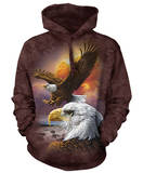 Hoodie: Eagle & Clouds Sweat à capuche