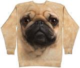 Crewneck Sweatshirt: Pug Face T-Shirt