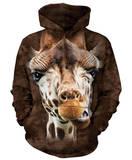 Hoodie: Giraffe Pullover Hoodie