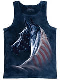 Tank Top: Patriotic Horse Head Tank Top