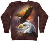 Crewneck Sweatshirt: Eagle & Clouds Mikiny