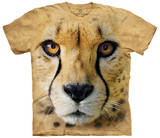 Big Face Cheetah Endanger T-shirts