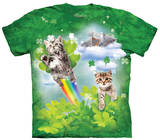 Youth: Green Irish Fairy Kittens T-shirts