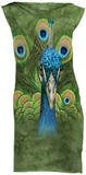 Mini Dress: Vibrant Peacock Vestido mini