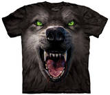 Big Face Attack Wolf T-shirts