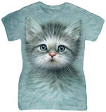 Juniors: Blue Eyed Kitten T-Shirt