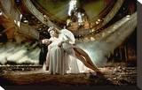 Ballet Dancer & Angel in Ruine Stretched Canvas Print