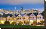 Alamo Square San Francisco Stretched Canvas Print
