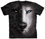 B&W Wolf Face Shirt