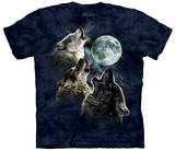 Three Wolf Moon In Blue T-shirts
