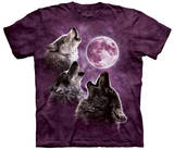 Three Wolf Moon In Purple T-shirts