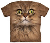 Big Face Brown Cat T-Shirt