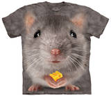 Big Face Grey Mouse T-shirts