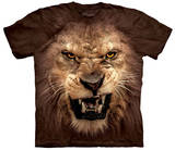 Big Face Roaring Lion T-Shirts