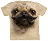 Big Face Pugstache T-shirts