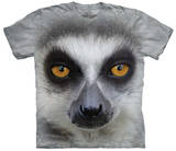 Big Face Ring Tailed Lemur T-shirts