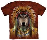Wolf Spirit Chief T-shirts
